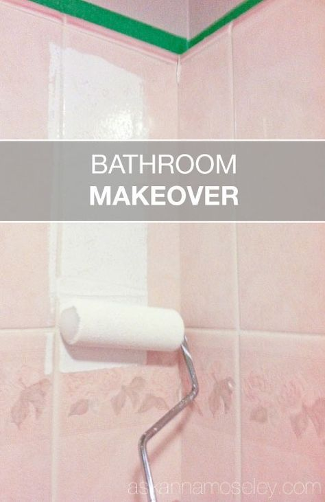 Wow—say goodbye to that outdated bathroom! How to update an ugly bathroom for under $30.
