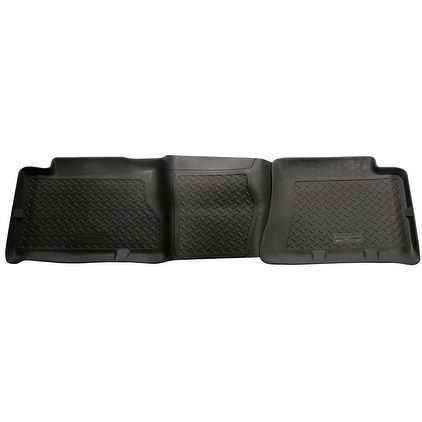 Husky Classic 2007 GMC Sierra 3500 Classic SL/SLE/SLT/WT CrewCab 2nd Row Black Rear Floor Mats/Liners