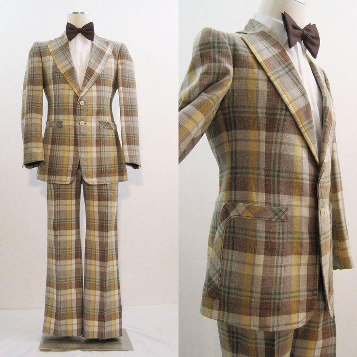 polyester LEISURE SUIT 70s suits DISCO SUITS for Men