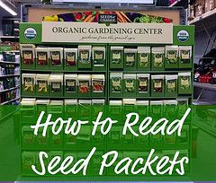 read seed packets: How To Read Seed Packets Jpg, Packets Seeds, Fantastic Reading, Garden Noob, Packets Organic Gardening, Seeds Gardening Canning, Packets Gardening