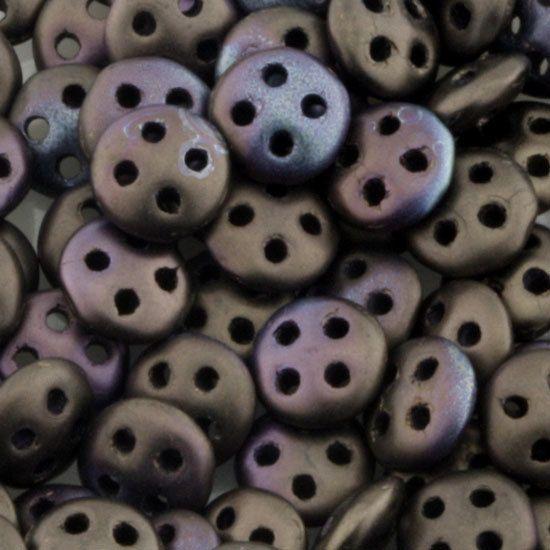 Eureka Crystal Beads - 6mm QuadraLentil JET BRONZE MATTE VEGA Four Hole CzechMates Czech Glass Beads (20), $6.75 (http://www.eurekacrystalbeads.com/6mm-quadralentil-jet-bronze-matte-vega-four-hole-czechmates-czech-glass-beads-20/)