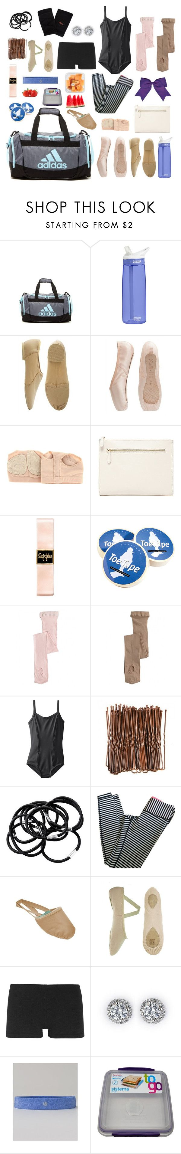 """""""In my dance bag"""" by izelaixchel ❤ liked on Polyvore featuring adidas, CamelBak, Bloch, Capezio, Forever 21, Chassè, H&M, lululemon, Ballet Beautiful and women's clothing"""