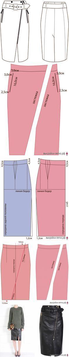 Выкройка кожаной юбки в стиле милитари | Выкройки онлайн и уроки моделирования