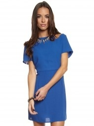 Cut-Out Party Dress in Electric Blue $79.99