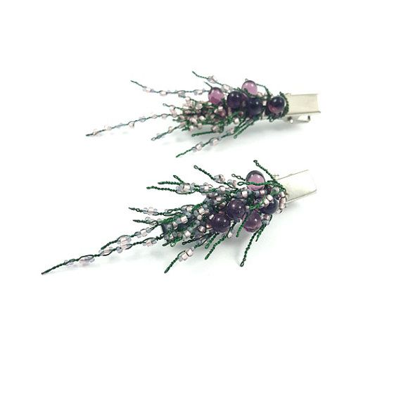 Check out this item in my Etsy shop https://www.etsy.com/listing/466168158/heather-sprig-wedding-hair-decoration