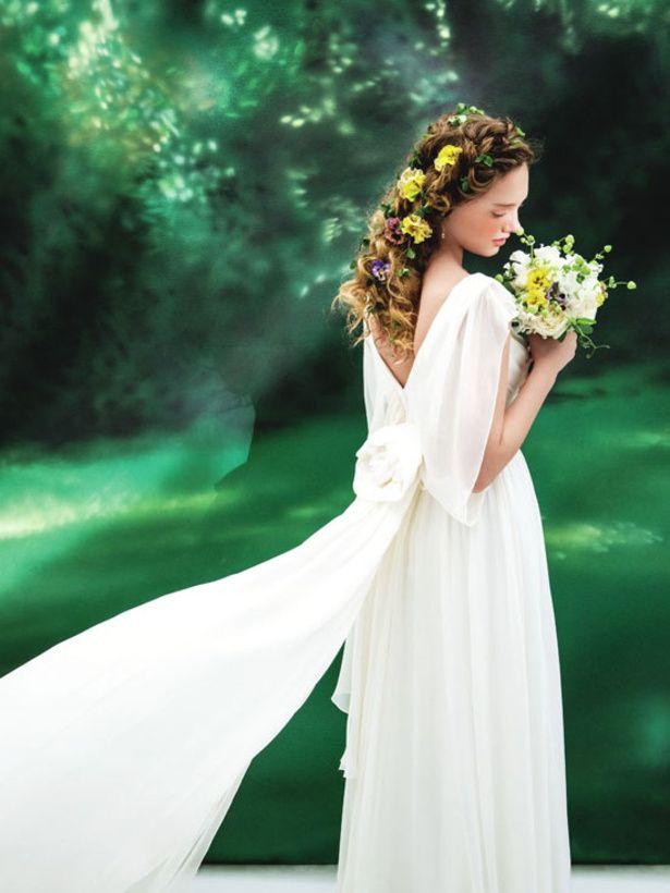 上質なシルクジョーゼットから生み出されるドレープが美しい♪ ♡ナチュラルな花嫁衣装ウェディングドレスまとめ参考一覧♡