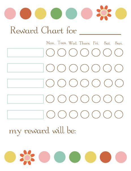 sticker rewards chart