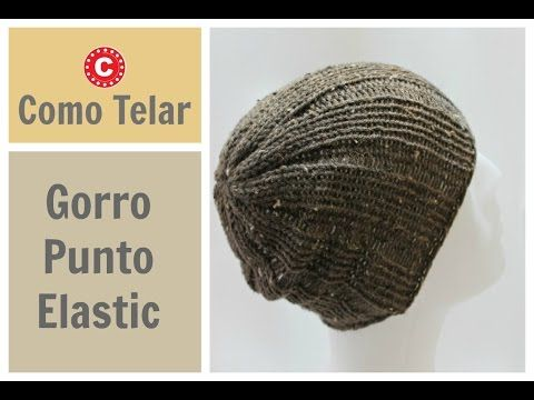 GORRO DE HOMBRE con Telar Redondo / Circular - Mens Hat on Circular Loom in Spanish - YouTube