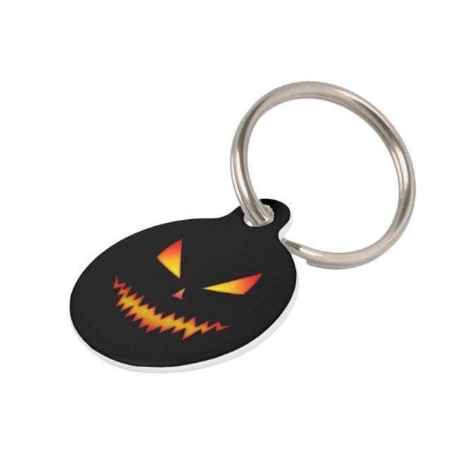 Fall Pet Tag Halloween Dog Tag Jack O Lantern Dog Tag