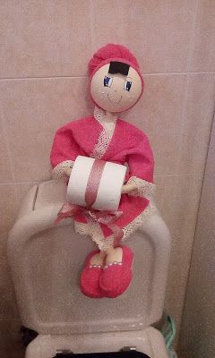 O Estaminé da Xé: Fofucha porta rolo papel higienico rosa