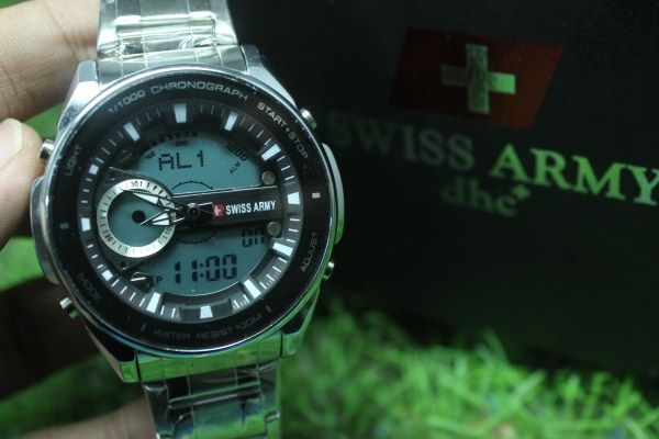 Swiss Army DT Stainless | Rp. 190.000,-