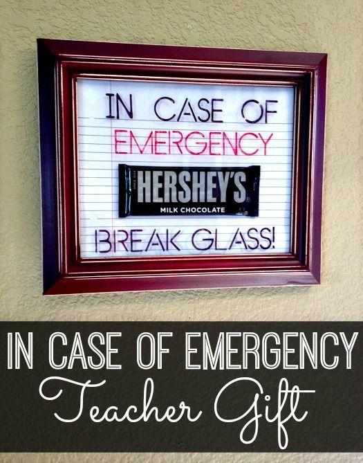 In Case of Emergency Teacher Gift IFM