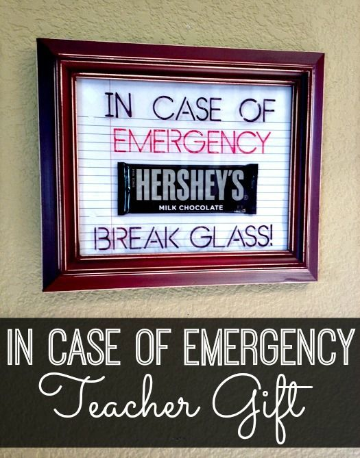 What teacher doesn't love chocolate?! Learn how to make this cute back-to-school teacher gift with my easy tutorial. #BackToSchool #InCaseOfEmergencyGift #TeacherGift | www.inspirationformoms.com