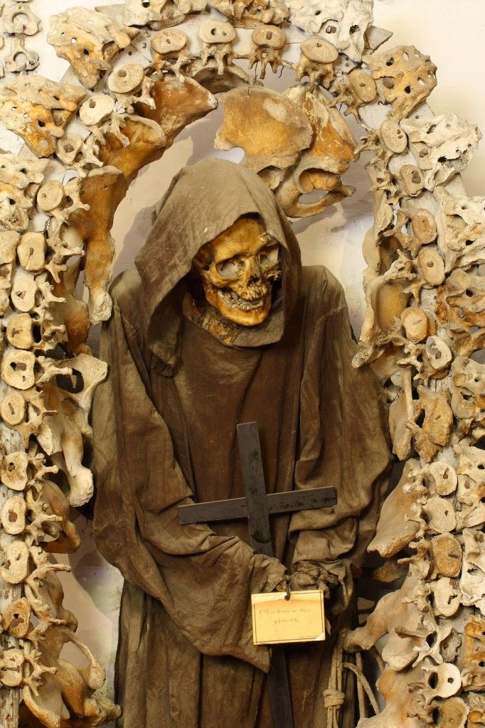 This mummified monk served in the Capuchin Order which took vows of poverty, charity and obedience. He stands in the Crypt of the Monastery of Santa Maria Della Concezione in Rome, Italy