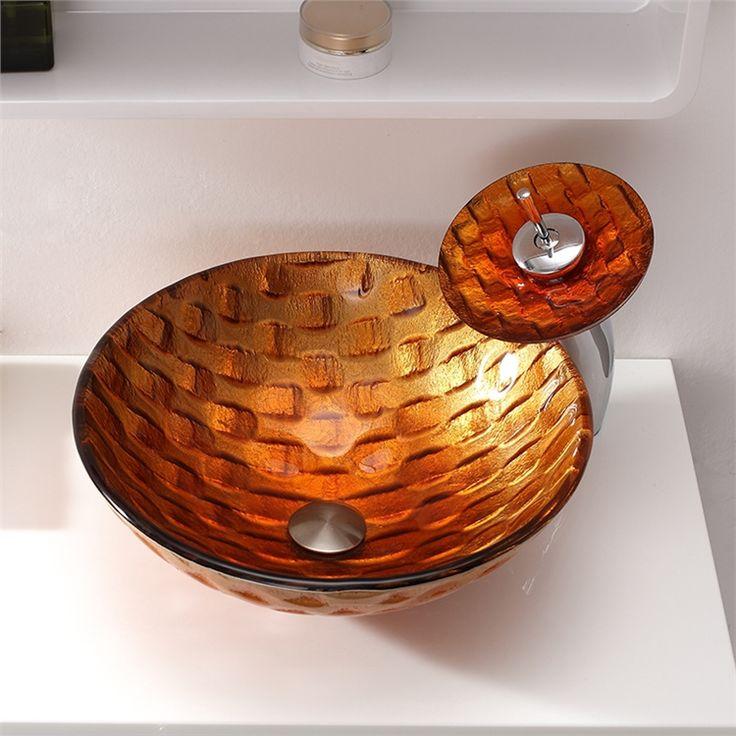 彩色上絵洗面ボウル&蛇口セット 洗面台 洗面器 手洗器 手洗い鉢 排水金具付 金色 HAM141