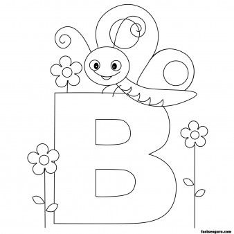 Letter B In Resting Animals Coloring Pages