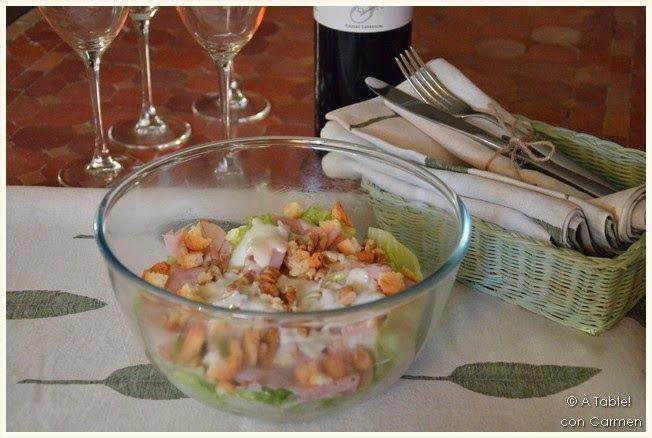 Ensalada de Jamón York y Crema Roquefort