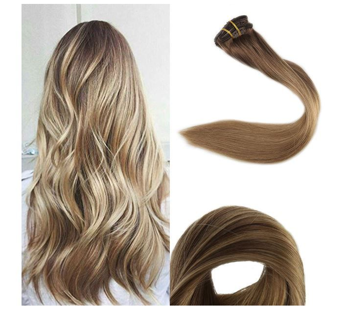 Vario Clip In Human Hair Extensions 65 For 14 Inch Length