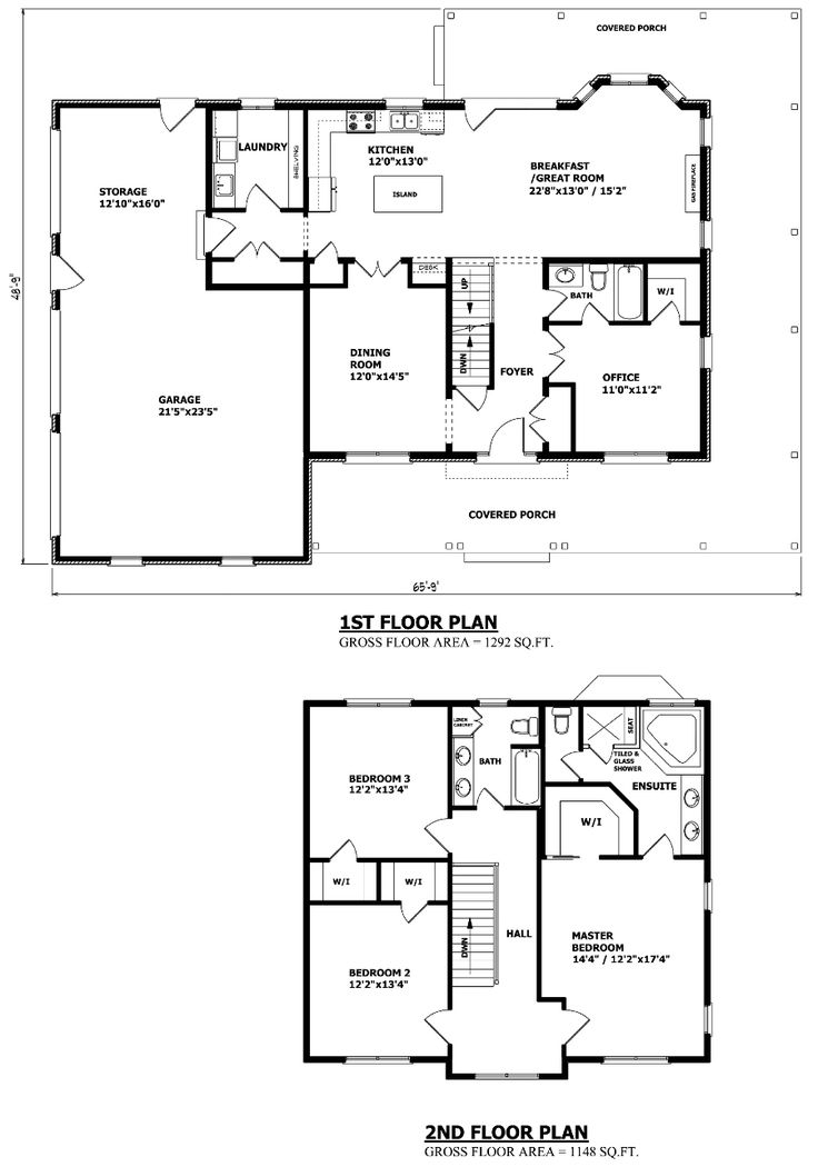 love this plan - Second Floor Floor Plans 2