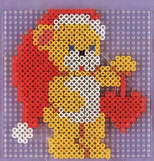 Teddy Christmas hama perler pattern
