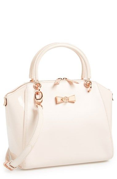Ted Baker London 'Petra - Crystal Bow' Small Leather Tote available at #Nordstrom