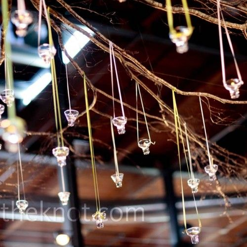 Azul Photography - gorgeous tealight candles hanging from branches
