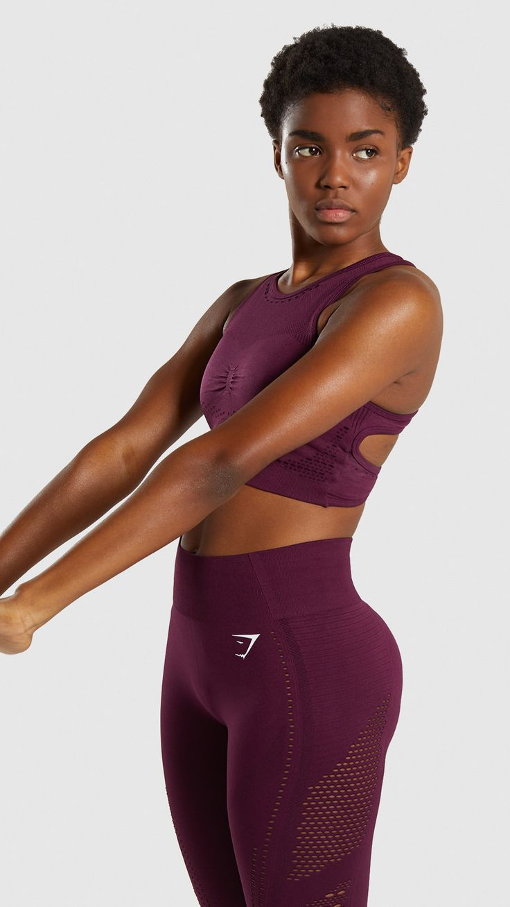 Gymshark Flawless Knit Sports Bra – Ruby