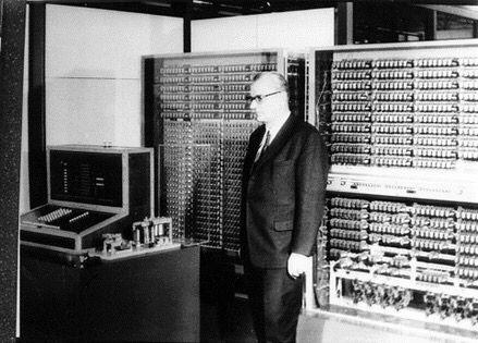 The first real, modern implementation of floating-point arithmetic was in Konrad Zuse's Z3 computer, built in 1941. It used a radix-2 floating-point number system, with 14-bit significands, 7-bit exponents and 1-bit sign.