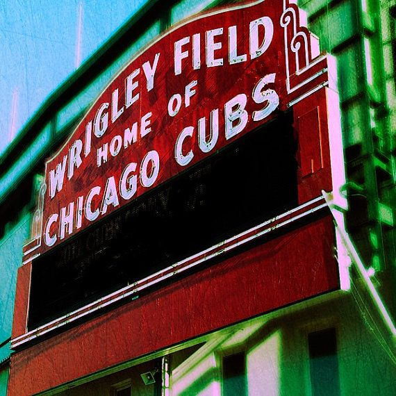 Chicago Photography Baseball Art Home Decor Wall by TraceyCapone, $30.00