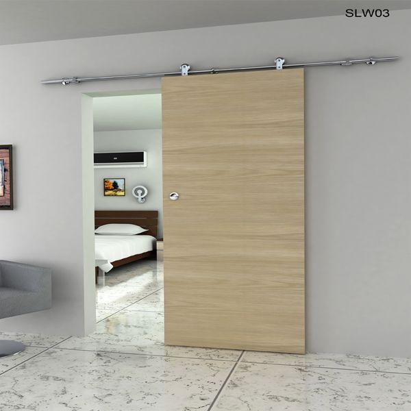 Foto de Europa Classic puerta corrediza de madera, 35-40mm grueso de madera sólida Puerta Material del panel, (instalación de montaje en pared) 304 Sistema de corredera de acero inoxidable # en es.Made-in-China.com