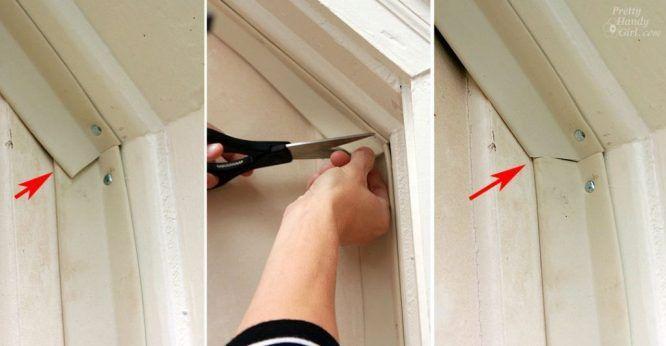 Installing Weatherstripping On A Garage Door Really Warms Up The Workshop Garage Door Weather Seal Garage Doors Garage Door Weather Stripping