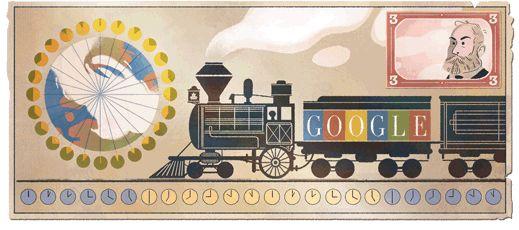 190.º aniversario del nacimiento de Sandford Fleming #GoogleDoodle