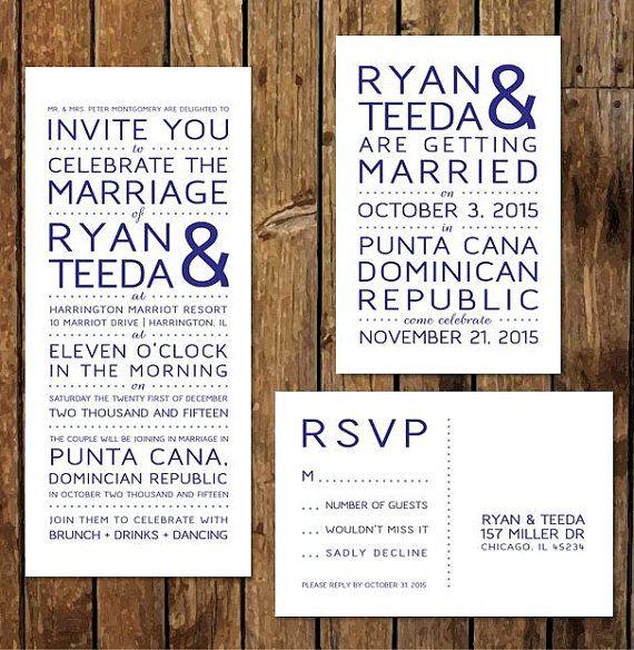 Reception After Destination Wedding Invitation: DIY Custom Printable Reception Invitations & RSVP. After