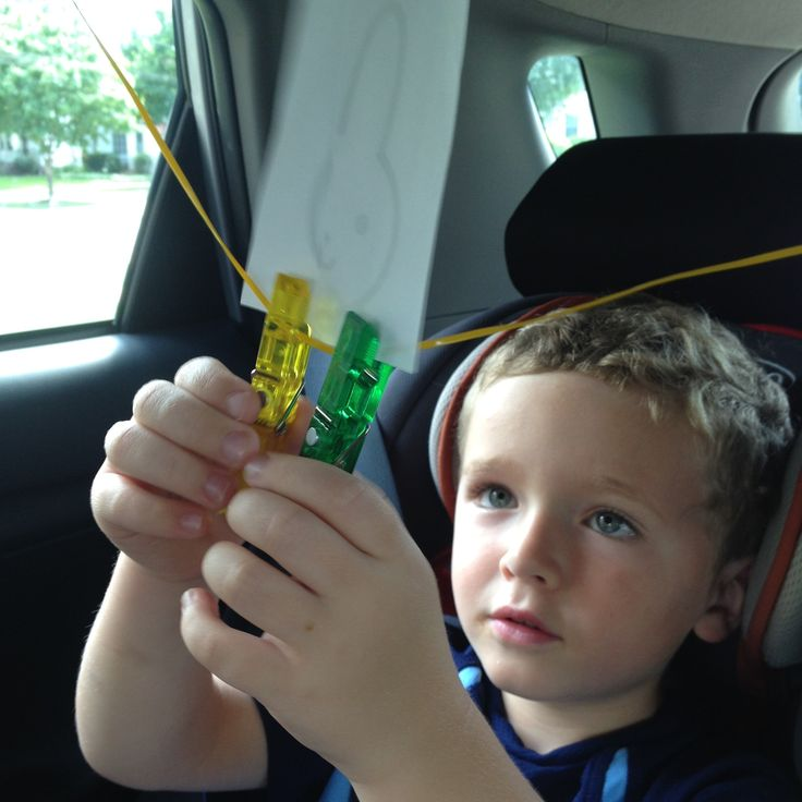 "ACTIVITIES FOR KIDS: 3 FUN CLOTHESPIN GAMES FOR THE CAR for all of those dreaded moments of ""ARE WE THERE YET""!!!  #finemotor #childdevelopment #travelgamesforkids #vacation #pediot #ottips #clothespingames"