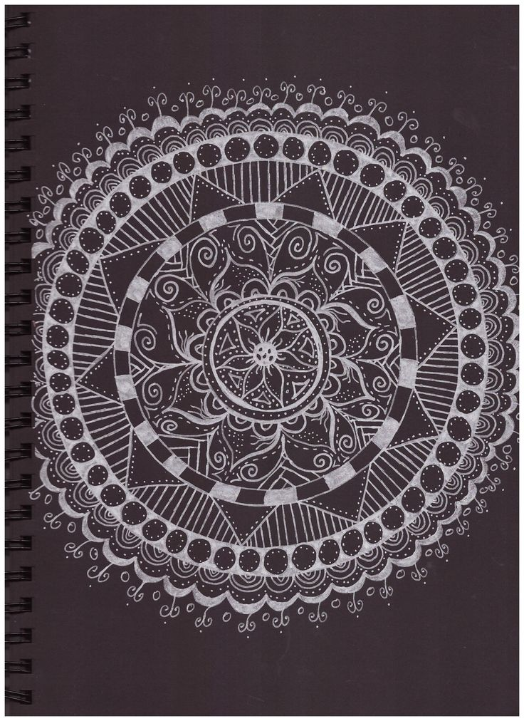 #pattern #in #black #paper #silver #posca #mandala