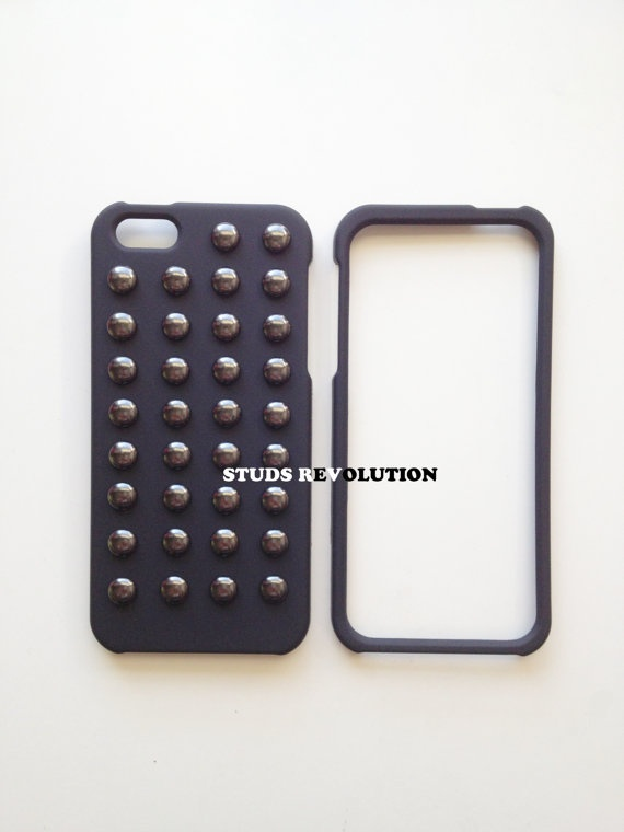 Studded black matte hard snapon iPhone 5 cases by StudsRevolution, $39.00