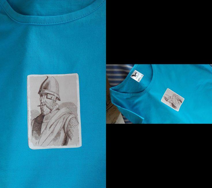 Triko J.Žižka tisk na kvalitním tričku gramáže150 g/m2, 100 %bavlna, velikost M, obvod přes prsa 90, délka 65cm praní na 40°C