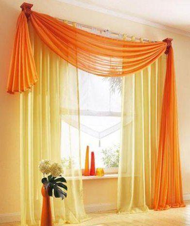 Tenda arancio e giallo