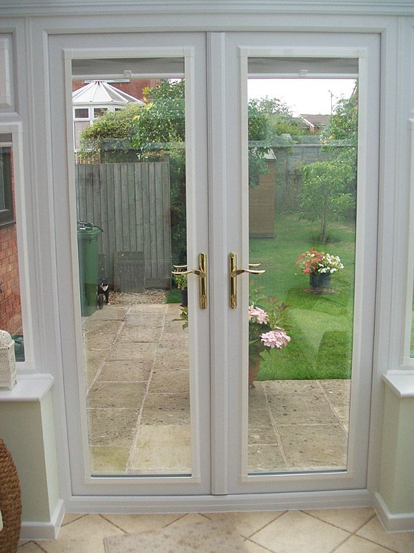 Upvc french doors google search replacement doors and for Exterior french doors with side windows