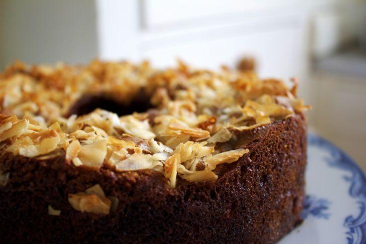 Almond Raspberry Cake with Coconut