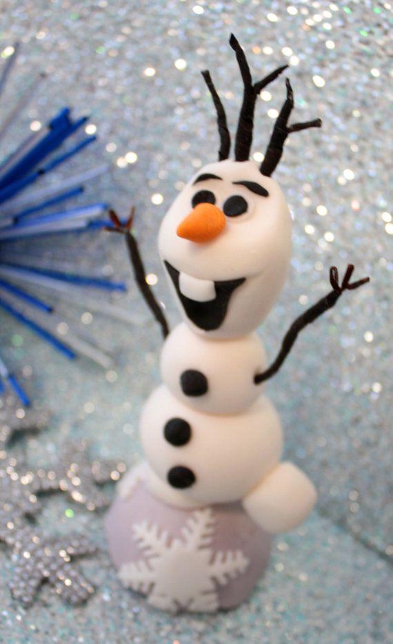 Etsy Frozen Cake Decorations : 1000+ ideas about Fondant Olaf on Pinterest Vanilla ...