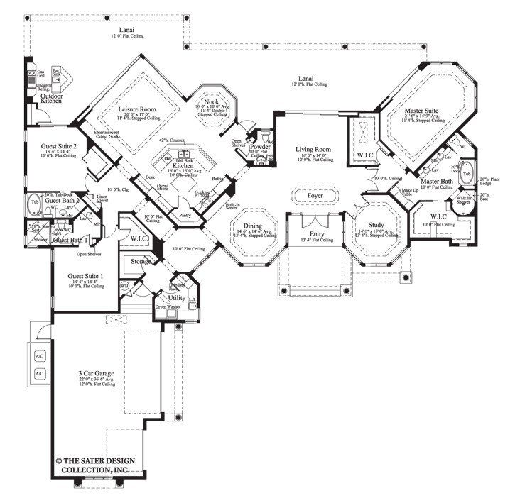 93 best one story luxury homes the sater design for Sater design house plans