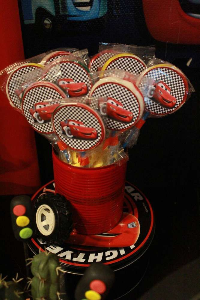 Disney Cars birthday party candy! See more party ideas at CatchMyParty.com!