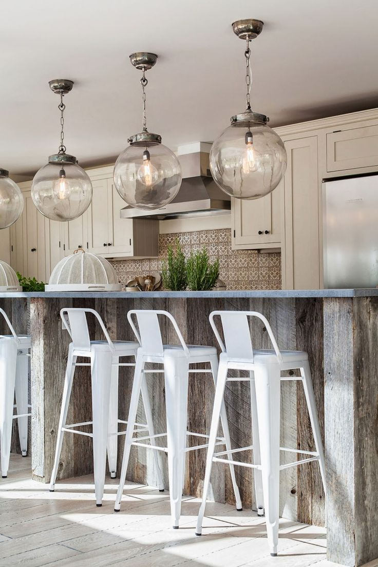 Shoot Factory Kitchens Light Hardwood Floors White Metal Barstool Tolix Rustic Kitchen Island With Bre
