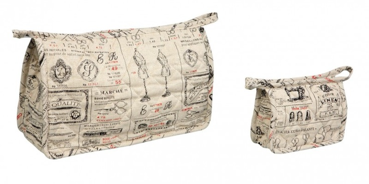 Comptoir de Famille Set Toiletbag and Washbag