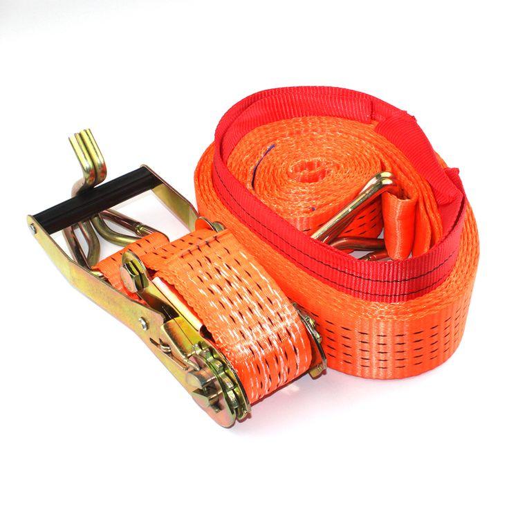 100% poliéster ratchet amarre, trinquete cargo lash, tie down con gancho y guardián, cargo tow correa, 8 m y 2500 kg(China (Mainland))