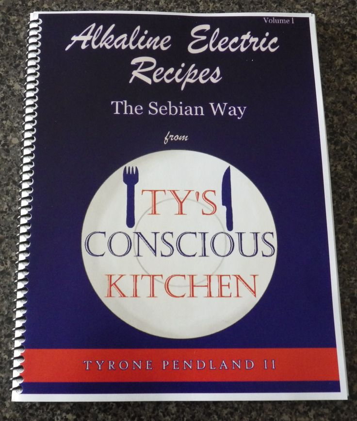 Alkaline Electric Recipes The Sebian Way from Ty's Conscious ...