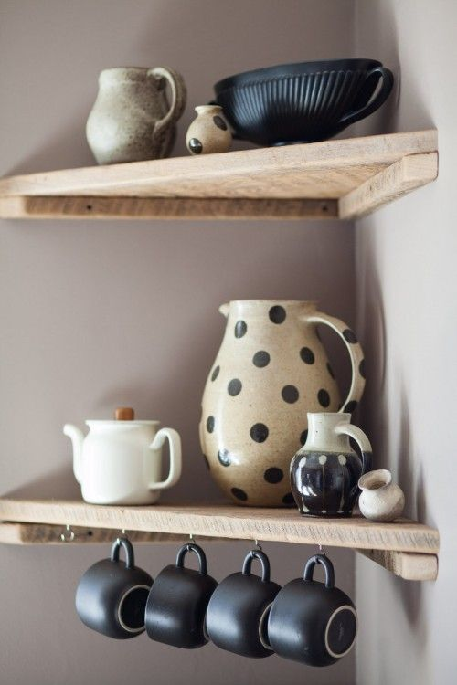 DIY Corner Shelves for the Kitchen.                                                                                                                                                                                 More