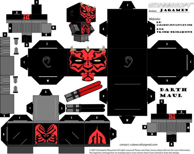 Darth Maul Ver. Clone Wars Cubeecraft by JagaMen.deviantart.com on @DeviantArt