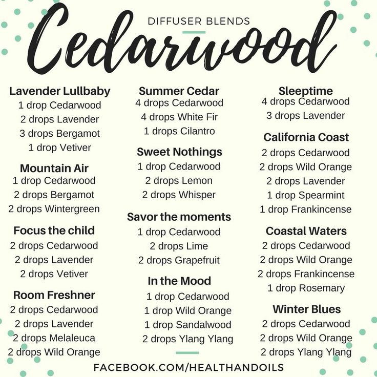 Doterra Cedarwood Diffuser Blends Oils Holistic